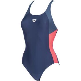 arena Ren Jednoczęściowy strój kąpielowy Kobiety, navy/shark/fluo red